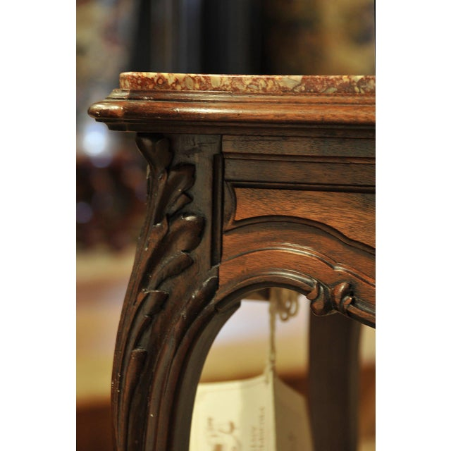 French Vintage French Marble Top Stand For Sale - Image 3 of 7