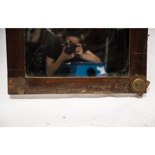 1920s French Country Oak Carved Window Mirror For Sale In Atlanta - Image 6 of 11