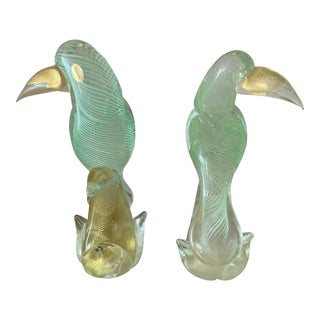 1970s Figurative Murano Glass Toucans - a Pair For Sale