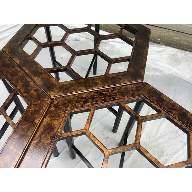 Widdicomb Honeycomb Tables, Set of 3 For Sale - Image 9 of 13