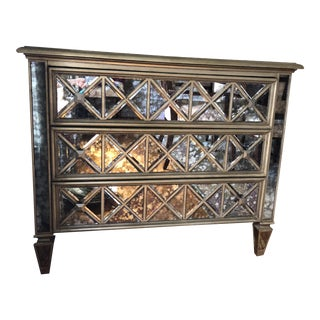 Sanctuary 3 Drawer Diamond Front Ant Chest For Sale