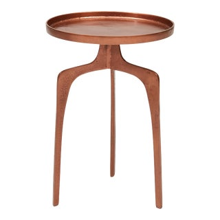 Kim End Table, Vintage Copper For Sale