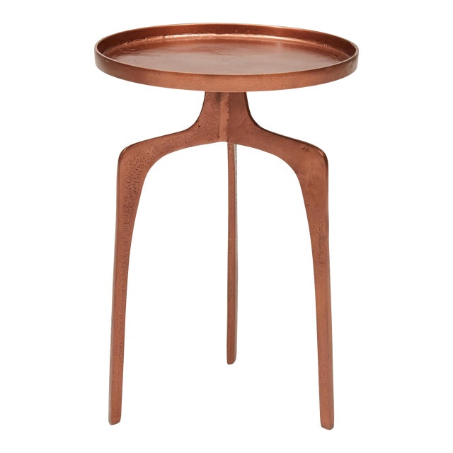 Kim End Table, Vintage Copper For Sale