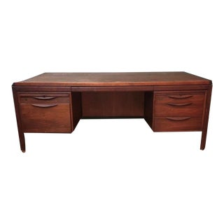 Jens Risom Walnut Executive Desk For Sale