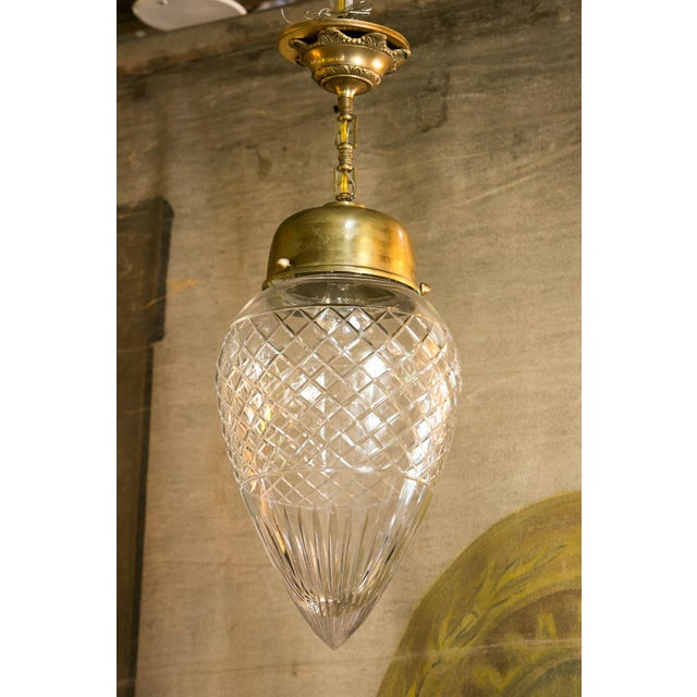 Antique Cut-Glass Pendant For Sale In Houston - Image 6 of 6