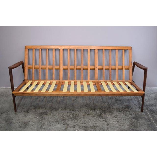 Beech Danish Modern Adolf Relling for Dokka Restored Sofa For Sale - Image 7 of 11