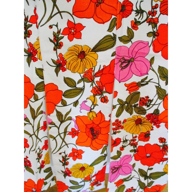 Vintage Swedish Flower Wall Panels Curtains Textile - Set of 4 For Sale - Image 5 of 10