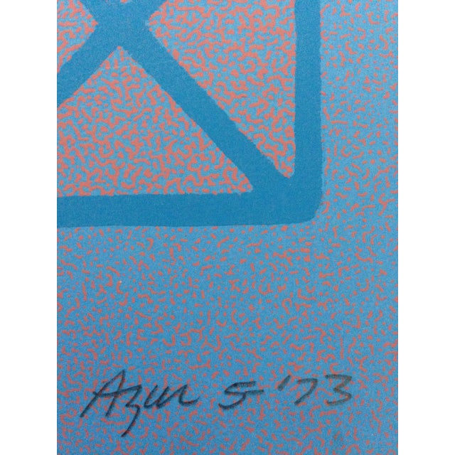 Drawing/Sketching Materials 1973 Op-Art Silkscreen Signed Bay Area Artist For Sale - Image 7 of 10