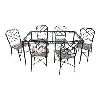 Brown Jordan Calcutta Dining Table Base & Chairs For Sale