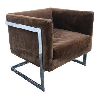 Mid Century Modern Chrome Living Bed Room Side Chair 2304 For Sale