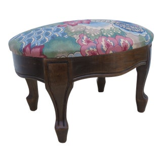French Carved Small Ottoman Footstool 2169 For Sale