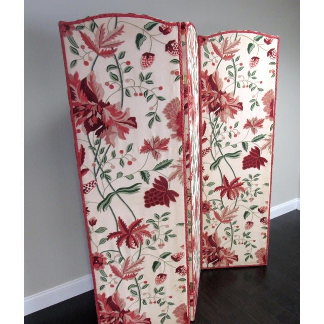 Asian Floral Scalamandre Room Divider For Sale - Image 3 of 7