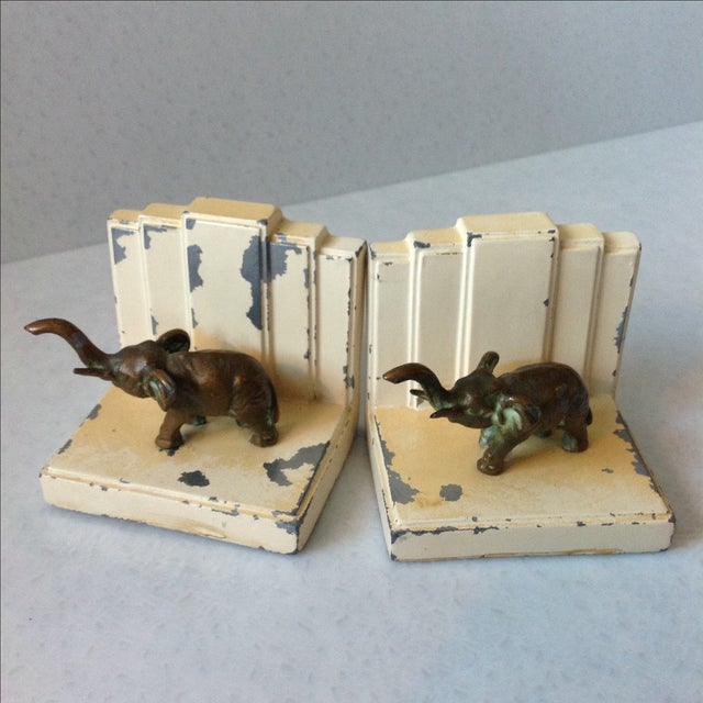 Art Deco Elephant Bookends - A Pair - Image 2 of 11
