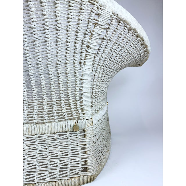 Textile Vintage Rope Bird Lounge Coastal Chair Aft Bertoia For Sale - Image 7 of 13