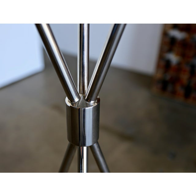 """White t.h. Robsjohn Gibbings """"Tripod"""" Floor Lamps - a Pair For Sale - Image 8 of 13"""