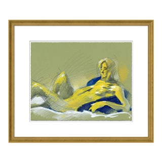 Figure 10 by David Orrin Smith in Gold Frame, Small Art Print For Sale