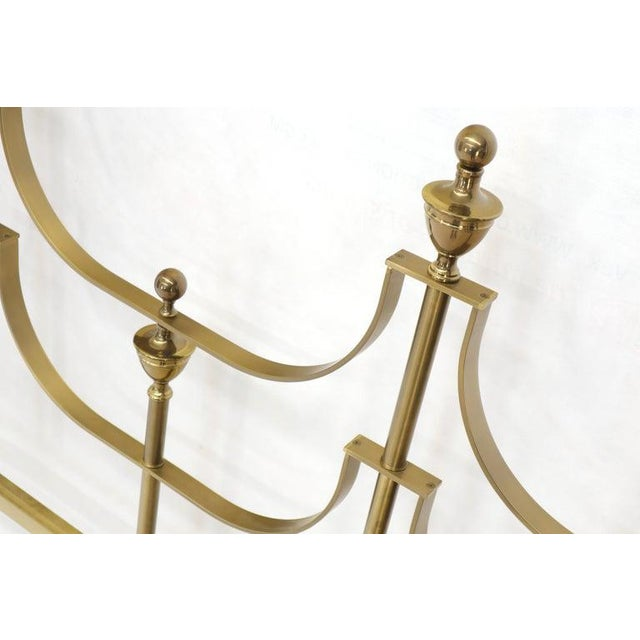 Brass Solid Brass Mastercraft King Size Tall Headboard Bed For Sale - Image 8 of 10