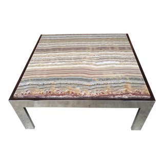 1970 Mid-Century Modern Pace Collection Natural Onyx Coffee Table For Sale