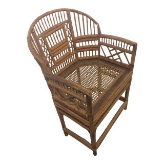 Vintage Brighton Pavillion Chinese Chippendale Bamboo Chair For Sale