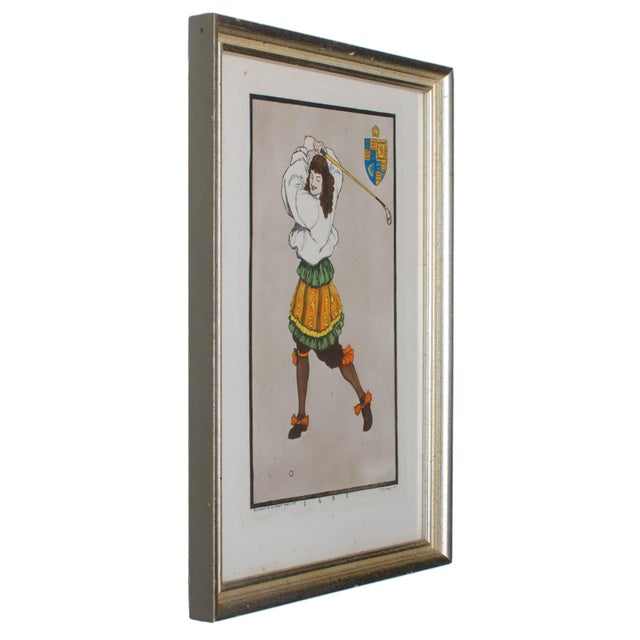 Early Golfing Costume Prints - A Pair - Image 5 of 5