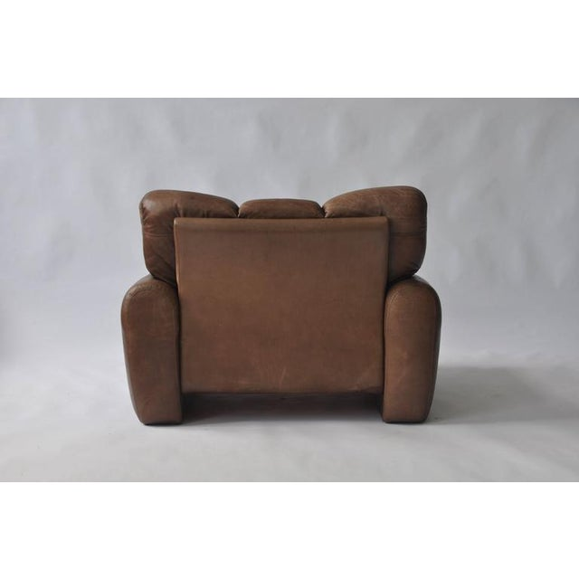 Animal Skin Large Scale 1970s Leather Lounge Chair For Sale - Image 7 of 7