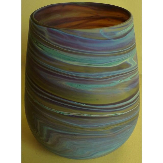 Mid Century Studio Art Glass Vase For Sale In Boston - Image 6 of 13