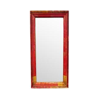 Red & Orange Wood Mirror