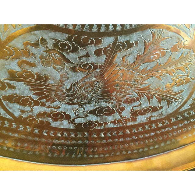MCM Oriental Brass Tray Table - Image 8 of 10