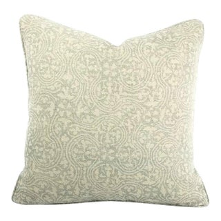 "Kerry Joyce Paloma in Moonstone Blue With Self-Welt Pillow Cover - 20"" X 20"" For Sale"