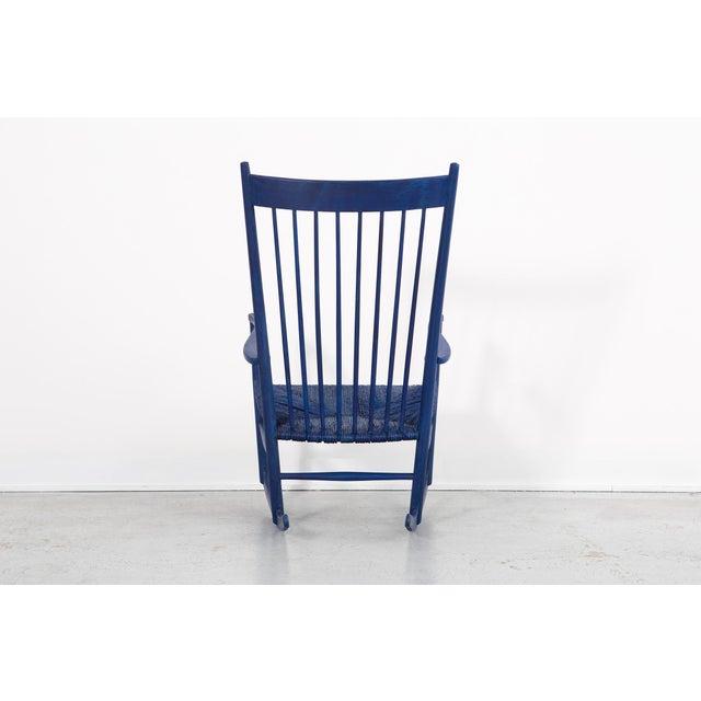 FDB Møbler Hans Wegner Royal Blue Rocker For Sale - Image 4 of 12