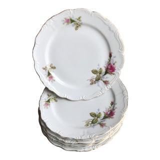 Cottage Rosebud Dessert Plates - Set of 5