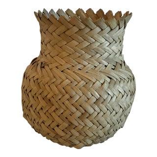 Vintage Woven Vase Shaped Basket