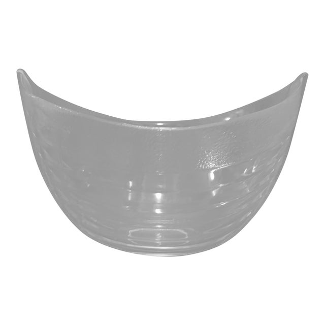 Nybro Crystal Boat Bowl For Sale