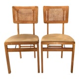 Image of Vintage Mid Century Folding Chairs - A Pair For Sale