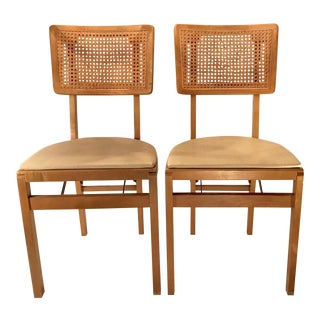 Vintage Mid Century Folding Chairs - A Pair For Sale
