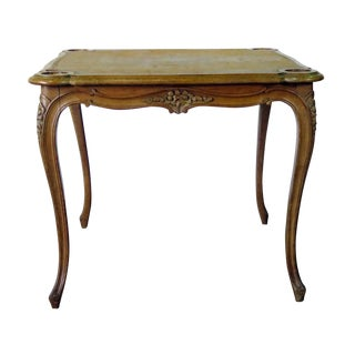 Country French Card Table, Attr Don Rousseau For Sale