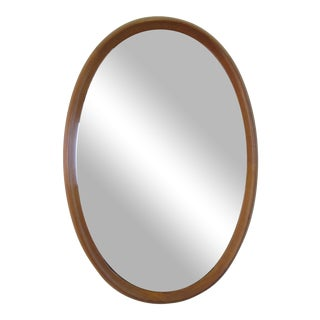 Pedersen and Hansen Teak Oval Mirror