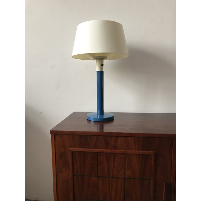 Gerald Thurston Mid-Century Cobalt Table Lamp - Image 2 of 7