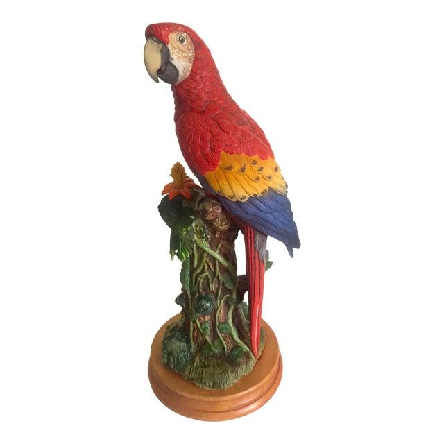 Vintage Toshitaka Katoh Limited Edition Scarlet Macaw Porcelain Tropical  Bird Figurine