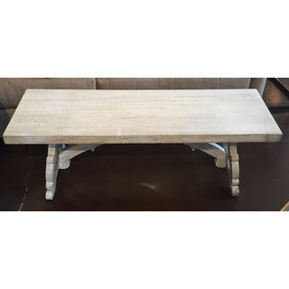 Whitewash Solid Wood Bench Preview