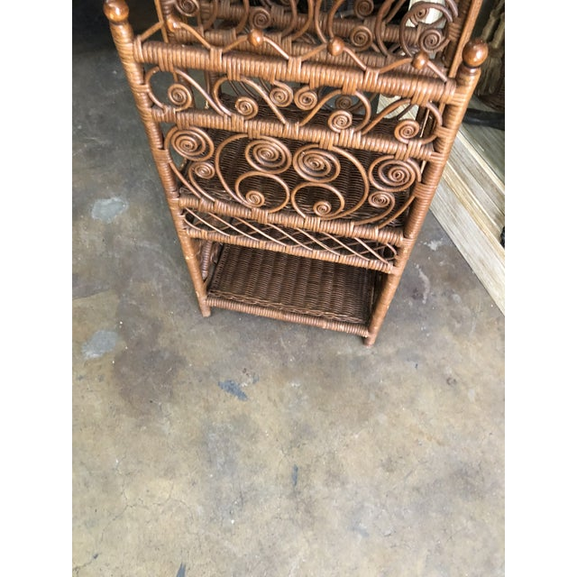 Bamboo & Rattan Magazine Holder For Sale - Image 4 of 6
