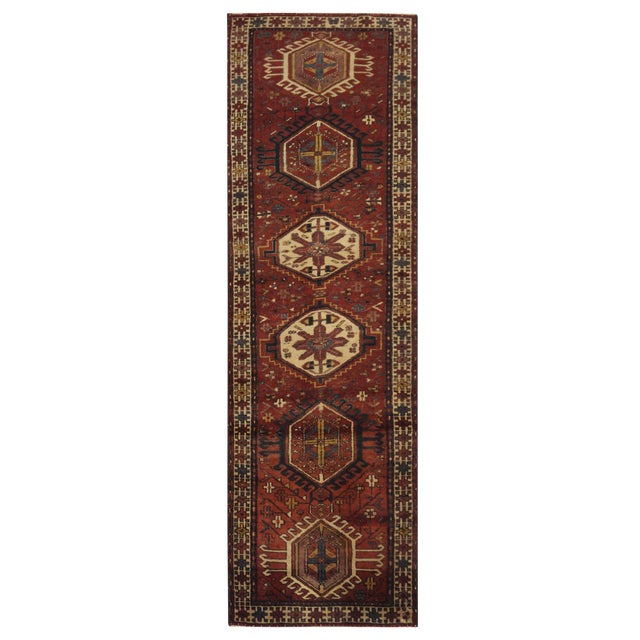 Vintage Persian Karaje Runner - 2.10 x 10.10 For Sale