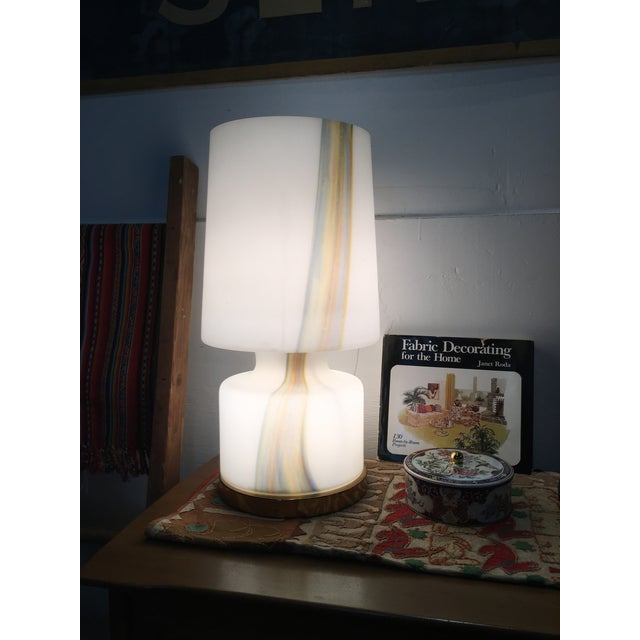 Mid 20th Century Vintage Murano Hand Blown Laurel Lamp Co. Glass Table Lamp For Sale - Image 5 of 5