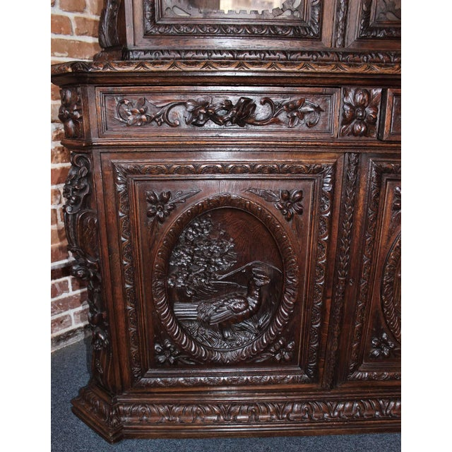 Early 20th Century French Hunt Style Bookcase For Sale - Image 4 of 8