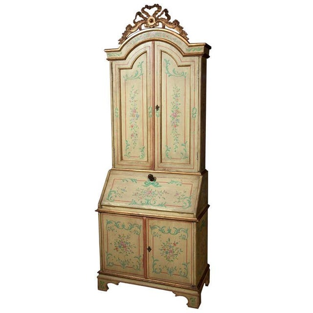 Venetian-Style Painted Secretary For Sale