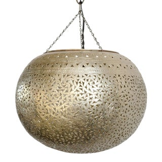 Nickel Moroccan Lantern For Sale