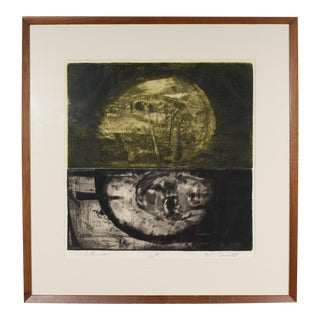 """Late 20th Century Herbert C. Cassill """"Saturnian"""" Signed Limited Edition Aquatint Etching For Sale"""