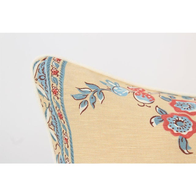 Chinoiserie Linen Emperor Pillows 22x22 Square, a Pair For Sale - Image 4 of 7