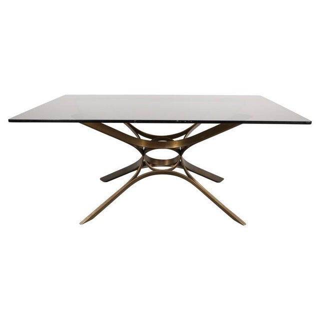 Bronze Mid-Century Cocktail Table in Bronze and Glass by Roger Sprunger for Dunbar For Sale - Image 7 of 7