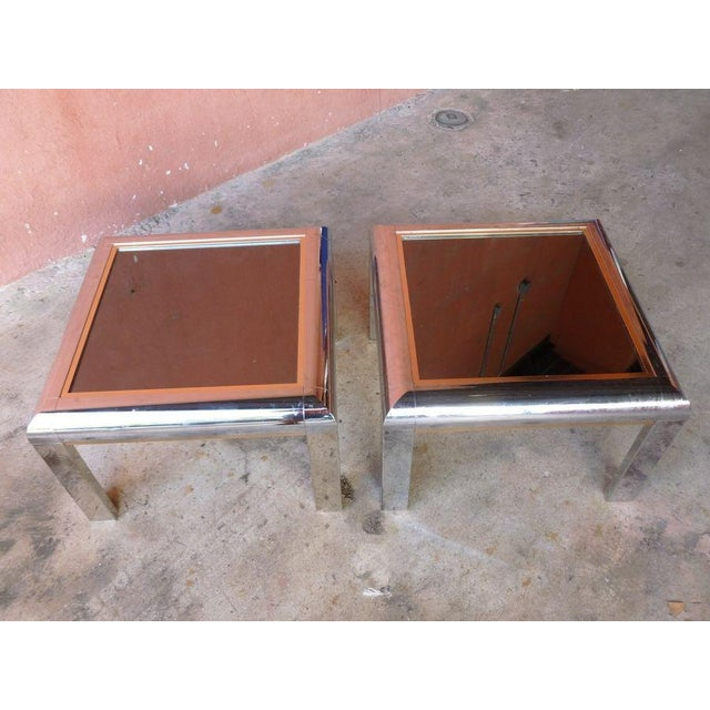 1970s 1970's Space Age Mod Chromed Aluminum End Tables - a Pair For Sale - Image 5 of 9